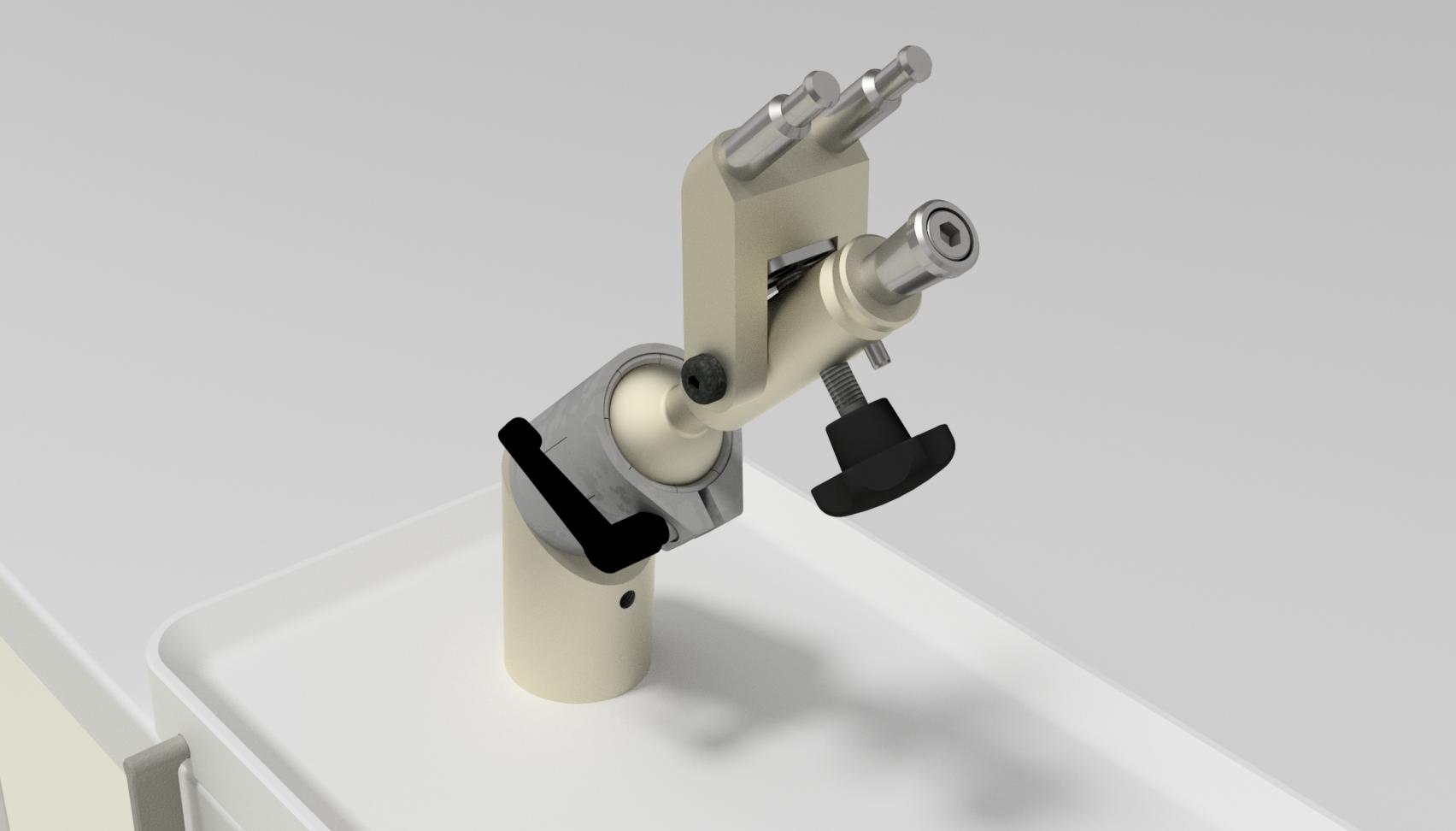 Skull Holder System Detail Rendering